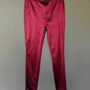 Red High Waist Skinny Disco Pants Shiny Size S.